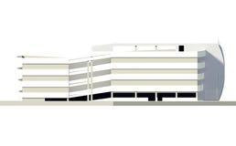 Parkeerterrein met meerdere verdiepingen Stock Afbeelding