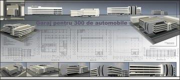 Parkeerterrein met meerdere verdiepingen Royalty-vrije Stock Foto's