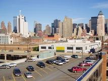Parkeerterrein in Uit het stadscentrum Manhattan Royalty-vrije Stock Foto's