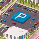Parkeerterreinconcept stock illustratie