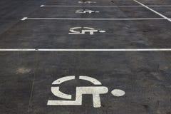Parken für Behinderte lizenzfreies stockfoto
