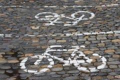 Parken für Fahrräder Stockfoto