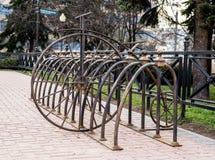 Parken für Fahrräder Stockfotos