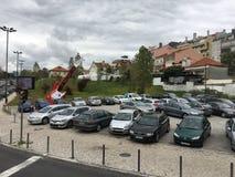 Parken in Lissabon Stockbilder