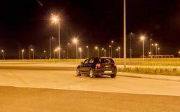 Parken nachts Stockfoto