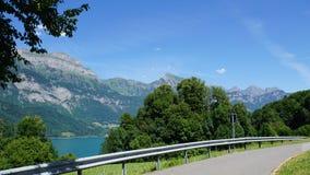 Parken am See Walensee Lizenzfreie Stockfotos
