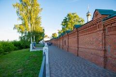 Parken Sie Aleksandrovsky und Leute in ihm in Kirow-Stadt im Jahre 2016 Stockfoto