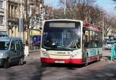Parken Sie und reiten Sie Bus, Lord Street, Southport Stockbild