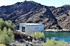 Parker Dam, Parker, Arizona, La Paz County, Stati Uniti Immagini Stock Libere da Diritti