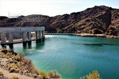 Parker Dam, Parker, Arizona, La Paz County, Vereinigte Staaten Lizenzfreies Stockfoto