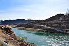 Parker Dam, Parker, Arizona, La Paz County, Verenigde Staten Stock Afbeelding