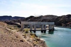 Parker Dam, Parker, Arizona, La Paz County, Verenigde Staten Stock Foto's