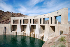 Parker Dam on the border of California and Arizona Stock Photo