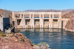Parker Dam and the Colorado River Stock Photos