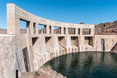 Parker Dam on the Colorado River Stock Images