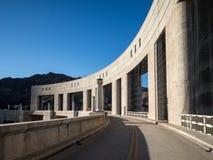 Parker Dam on the Colorado River. Parker Dam holds back Lake Havasu on the Colorado River Stock Images