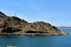 Parker Dam, Parker, o Arizona, La Paz County, Estados Unidos imagens de stock