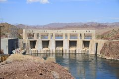 USA, CA, AZ: Parker Dam and Power Plant Stock Photos