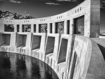 Parker Dam sur le fleuve Colorado noir et blanc photos stock