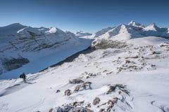 Parker Ridge i kanadensiskt stenigt Arkivbilder
