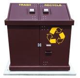 Parkera återanvänder avfallscontainern Arkivfoto