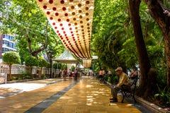 Parkera Alameda parkerar Marbella arkivbilder