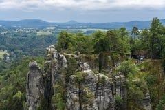 Parkera anglosaxaren Schweiz som klättrar och fotvandrar område Arkivfoton