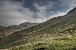 parkera av den Corno alleskalan, Apennines, höstlandskap arkivfoto