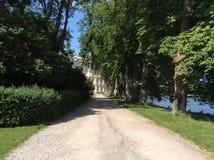 Parkera av Fontainebleau, Frankrike Arkivbilder
