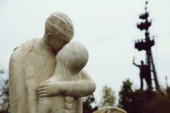 Parkera av gamla onödiga skulpturer royaltyfri fotografi