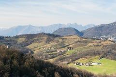 Parkera av Montevecchia (Brianza) Arkivfoton