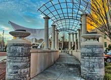 Parkera axeln i Asheville, North Carolina, USA Arkivfoton
