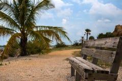 Parkera bänken i Key West Arkivbild
