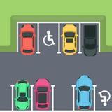 parkera bästa sikt stock illustrationer