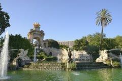 Parkera Ciutadella i Barcelona Royaltyfria Bilder