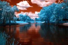 Parkera Crystal Lake, Illinois Arkivbilder