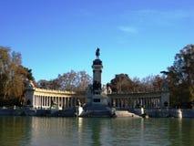 Parkera del Buen Retiro i Madrid Arkivfoto