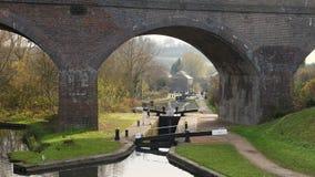 Parkera den Head lås och viadukten Dudley UK Arkivbild