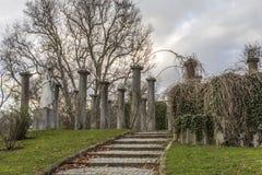 Parkera den Mittlere Schlossgarten Stuttgart Tyskland Fotografering för Bildbyråer