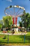 Parkera dragningar och underhållning Sunny Island i Krasnodar Royaltyfria Foton