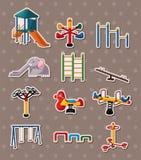 Parkera etiketter stock illustrationer