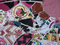 Parkera för Barcelona Gaudà för GÃ-¼engelsk aln unika tegelplattor ` s Arkivfoton