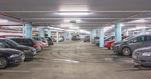Parkera för bil Fotografering för Bildbyråer