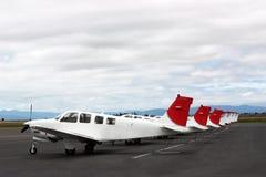 Parkera för flygplan Arkivbilder