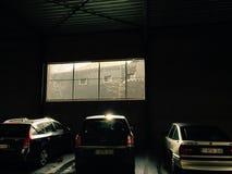 Parkera för garagebilar Arkivfoton