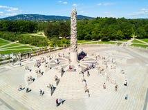 Parkera för Vigeland skulptur, Oslo royaltyfria bilder