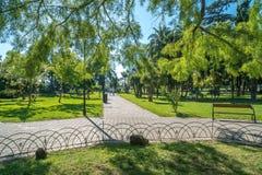 Parkera för vilar i staden av Batumi Arkivbild