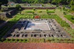 Parkera fördärvar, Shaniwar Wada Historisk befästning som byggs i 1732 och platsen av Peshwasen till 1818 Royaltyfri Bild