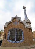 Parkera GÃ-¼engelsk aln, Barcelona, Catalonia, Spanien Arkivbilder