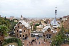 Parkera GÃ-¼engelsk aln, Barcelona, Catalonia, Spanien Royaltyfria Bilder